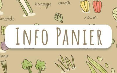 Info Panier du 16 Juin